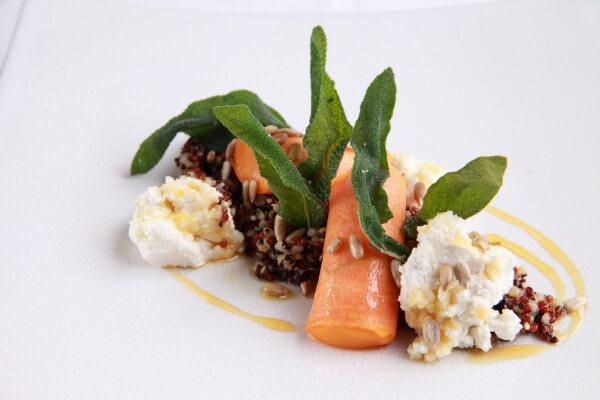 Büffelricotta mit Süßkartoffel